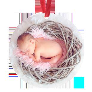 Round Metal Ornament