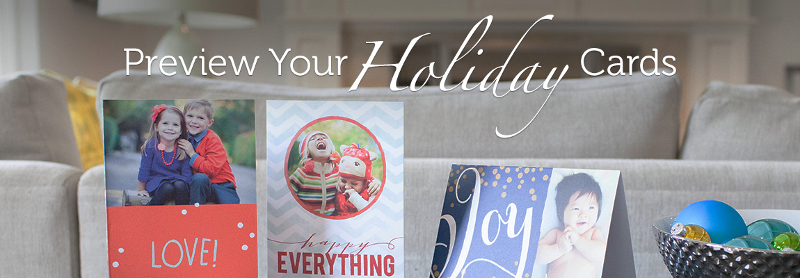 Preview Your Holiday Cards